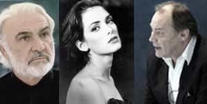 EMBERS: Sean Connery,Winona Ryder y  Klaus Maria Brandauer
