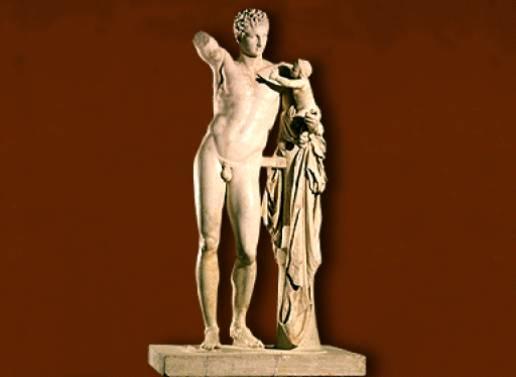 Apolo y Dionisos niño - Praxítenes
