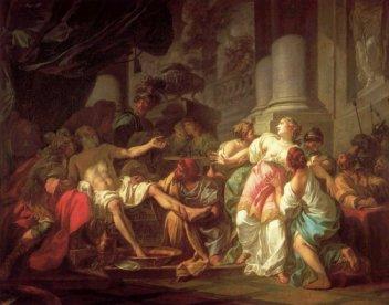 La muerte de Séneca - DAVID, Jacques-Louis -1773