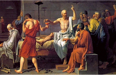 "The Death of Socrates"" by Jacques-Louis David (1787)"