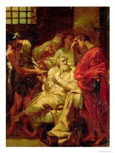 La muerte de Sócrates - Lámina Gidee