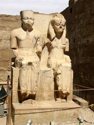 Amon y Ammonete - Templo de Luxor